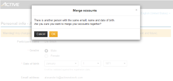Match and Merge with Another Registration Profile on